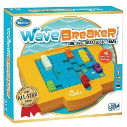 WAVE BREAKER Think Fun GIOCO DI LOGICA shifting seas logic game NAVI rompicapo 40 SFIDE età 8+