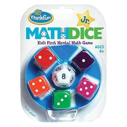 MATH DICE JUNIOR Think Fun GIOCO DI CALCOLO MENTALE matematico DADI età 6+