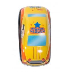 AUTO DEL CIRCO piccola IN LATTA gialla MOULIN ROTY gioco RETROCARICA metallo 720367 età 3+