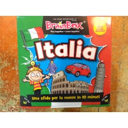 BRAIN BOX ITALIA gioco di carte ITALIANO memoria 10 MINUTI brainbox QUIZ età 8+