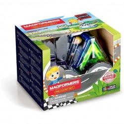 MAGFORMERS Rally Kart Set 8 PZ vehicle line COSTRUZIONI magnetiche 3D ruote PILOTA età 3+