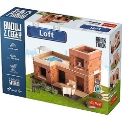 BUILD WITH BRICKS brick tricks VILLA LOFT Trefl KIT MODELLISMO mattoni veri SET età 6+