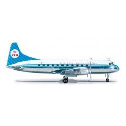 KLM CONVAIR CV-440 aereo in metallo 554800 modellino HERPA WINGS scala 1:200