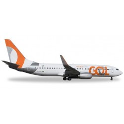 GOL BOEING 737-800 aereo in metallo 528726 modellino HERPA WINGS scala 1:500