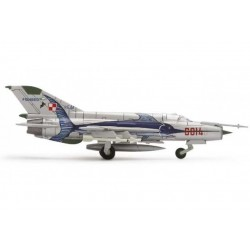 POLISH AIR FORCE MIKOYAN MIG-21MF 3. ELT aereo in metallo 552363 modellino HERPA WINGS scala 1:200