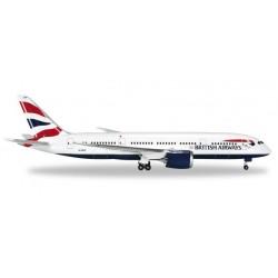 BRITISH AIRWAYS BOEING 787-8 DREAMLINER aereo in metallo 524698-001 modellino HERPA WINGS scala 1:500