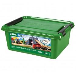 FERROVIA A 8 cassetta CARGO valigetta A BATTERIE in legno TRENO trenini BRIO 26 pezzi 33983 età 3+