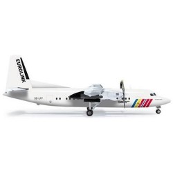 SAS SCANDINAVIAN FOKKER 50 aereo in metallo 555821 modellino HERPA WINGS scala 1:200