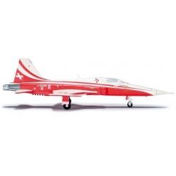 PATROUILLE SUISSE TIGER CINQUE aereo in metallo 555289 modellino HERPA WINGS scala 1:200