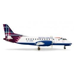 BRITISH AIRWAYS SAAB 340 BENYHONE TARTAN aereo in metallo 555777 modellino HERPA WINGS scala 1:200
