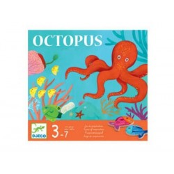 OCTOPUS gioco da tavolo COOPERATIVO di abilità DJECO polipo DJ08405 età 3+