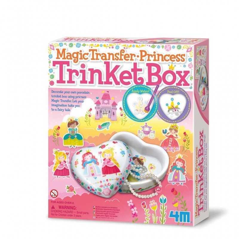 PORTAGIOIE kit artistico MAGIC TRANSFER gioco 4M creativo PRINCESS porcellana PRINCIPESSE età 8+