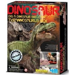 SCAVA UN FOSSILE tirannosaurus rex T REX kit set 4M scheletro di dinosauro KIDZ LABS età 8+
