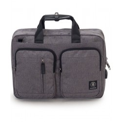 TRACOLLA BUSINESS BAG carry on GRIGIO CHIARO invicta UFFICIO business