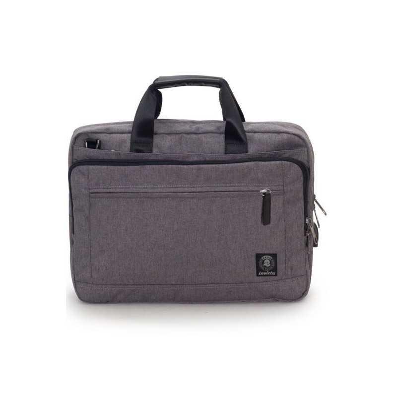 """BUSINESS BAG carry on GRIGIO CHIARO invicta UFFICIO borsa CON MANICI porta computer 13"""""""