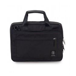 BUSINESS BAG carry on NERO invicta UFFICIO borsa CON MANICI porta computer 13""