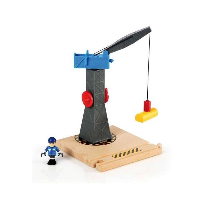 gro e magnetische holz kran brio spielzeug z ge 33320 tower crane. Black Bedroom Furniture Sets. Home Design Ideas