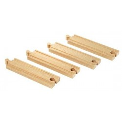 BINARI DRITTI MEDI in legno treni BRIO TRENINO 33335 Medium Straight Tracks