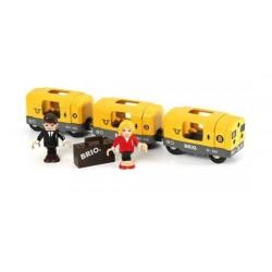 TRENO METROPOLITANA treni in legno BRIO trenino 33507 METRO TRAIN