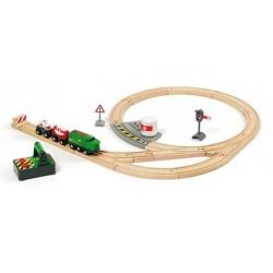 FERROVIA REMOTE CONTROL treni legno BRIO trenino 33517 REMOTE CONTROL TRAIN SET