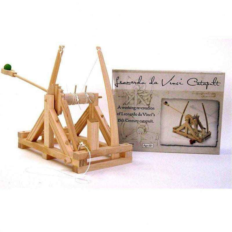 Catapulta leonardo da vinci in legno da costruire for Catapulta di leonardo da vinci