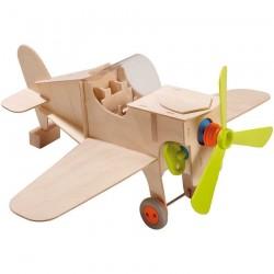 AEROPLANO SET DI COSTRUZIONE in legno ELICA FUNZIONANTE Terra Kids HABA 6+