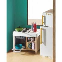 cucina completa casa delle bambole accessorio mobili djeco
