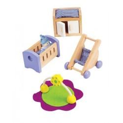 CAMERETTA DEL NEONATO in legno accessorio casa delle bambole HAPE Happy Family