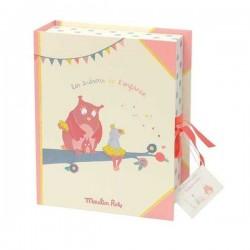 COFANETTO NASCITA Souvenir box MOULIN ROTY Mademoiselle et Ribambelle 23 x 29 cm PORTA GIOIE RICORDI