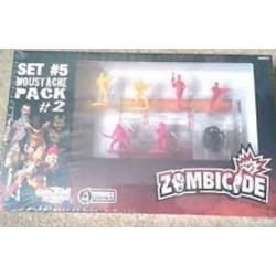 SET 5 MOUSTACHE PACK 2 Zombicide ESPANSIONE Kickstarter 3 SOPRAVVISUTI 3 ZOMBIE