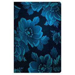 Diario a righe MUSA BLU midi cm 13x18 - PAPERBLANKS Blue Muse Chic Satin