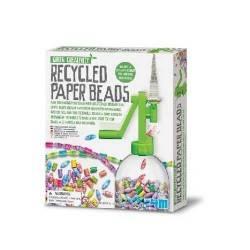 Recycled Paper Beads PERLINE CON CARTA RICICLATA kit scientifico 4M età 5+ gioco