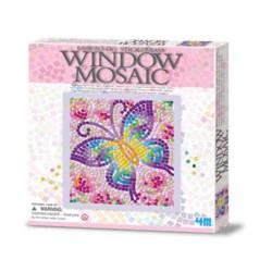 Window Mosaic Nature BUTTERFLY 4M Kit Mosaico Finestra Animali FARFALLA età 7+