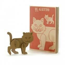 Libro Simba GATTO da COSTRUIRE COLORARE cartone 28 Magic World GUT Made in Italy