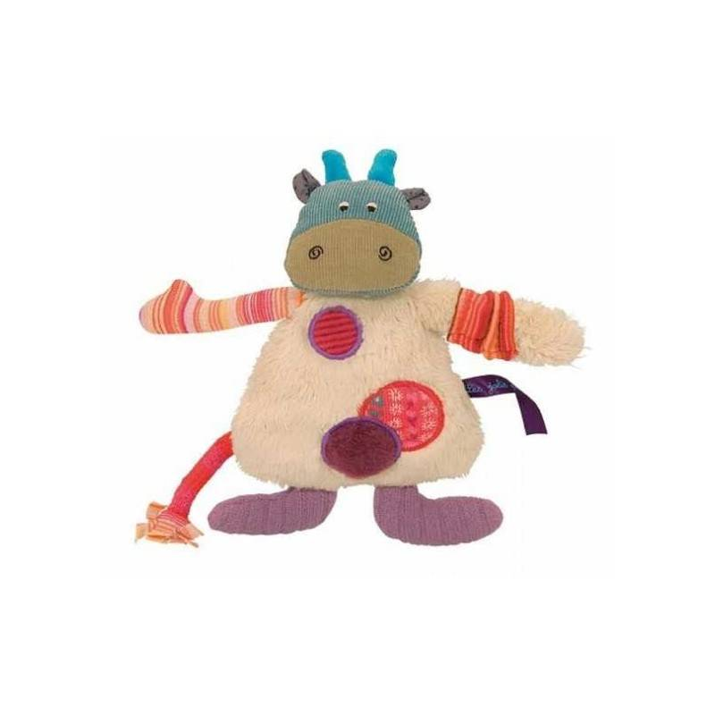 PELUCHE MUCCA Moulin Roty LES JOLIS PAS BEAUX bambola 0 anni + PUPAZZO