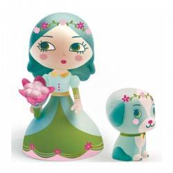 Luna & Blue ARTY TOYS DJECO DJ06765 action figure in resina snodabile MINIATURA 3+