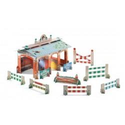 CENTRO EQUESTRE 3D Djeco in cartoncino da costruire maneggio per cavalli DJ07707