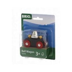 VAGONE CON CAMPANA treni in legno BRIO trenino 33749 età 3+ SONORO magnetico