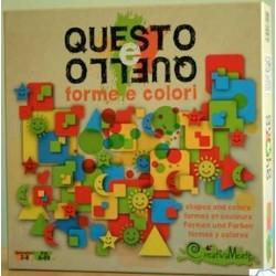 QUESTO E QUELLO forme e colori CREATIVAMENTE 2-8 giocatori GIOCO PUZZLE età 4+