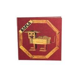 Kapla ideas book medium red
