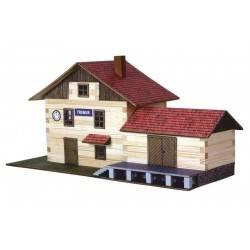 STAZIONE FERROVIARIA 2015 in legno da costruire WALACHIA età 8+ costruzioni in legno