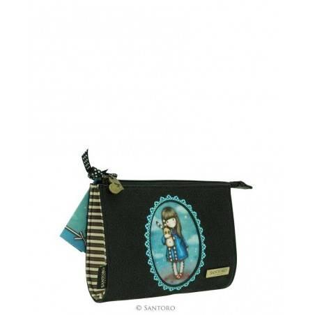TROUSSE embossed clutch purse bag HUSH LITTLE BUNNY Santoro 524GJ01 Gorjuss BORSA