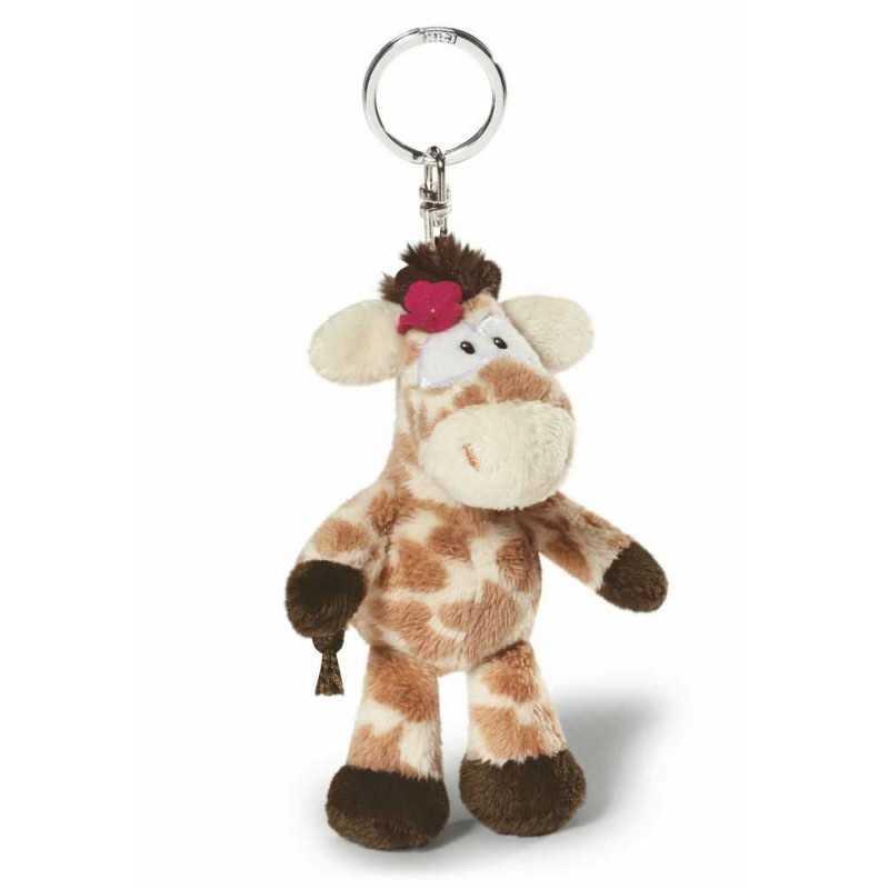 GIRAFFA porta chiavi PELUCHE 38614 Waldmuller NICI gadget PORTACHIAVI giraffe