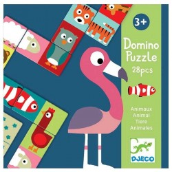 Domino Puzzle 28 pz DJECO DJ8165 gioco classico per bambini ANIMO animali 3+