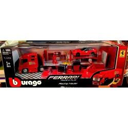 Collezione Ferrari CAMION OFFICINA racing hauler BBURAGO burago RACE & PLAY die cast metal body 1/43 macchinine