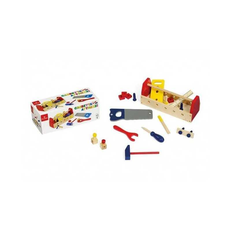 CASSETTA DEGLI ATTREZZI gioco di imitazione in legno DAL NEGRO età 4+ TOOL BOX