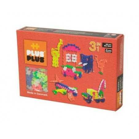 MINI NEON 480 pezzi 3 in 1 PLUSPLUS gioco modulare costruzioni