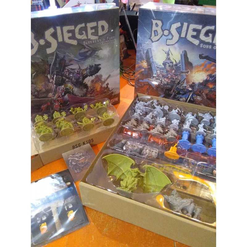 B-SIEGED DEFENDER KICKSTARTER BUNDLE with stretch goals and DARKNESS & FURY EXPANSION