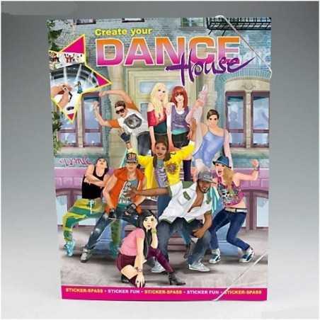 ALBUM CREA LA TUA DANCE HOUSE create your TOP MODEL adesivi stickers Topmodel DEPESCHE creativo da colorare
