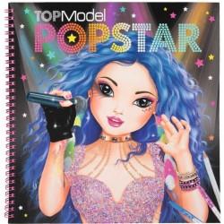 ALBUM creativo TOP MODEL crea la tua POPSTAR topmodel DEPESCHE adesivi stickers STENCILS creativo da colorare